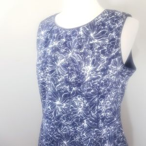 2/$65 Talbots navy floral dress